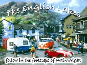 English Lakes (MG, VW) metal sign  (og 3040)